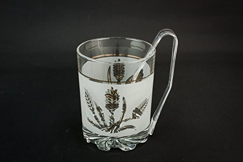 Beautiful vintage floral devalbor glass mid century modern
