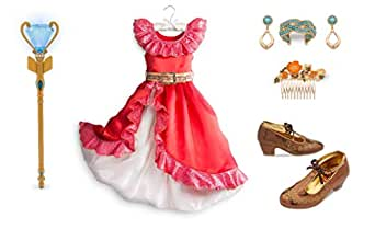 Elena Disney Store of Avalor Girls Deluxe Dress Up Costume Set - Size 7 8