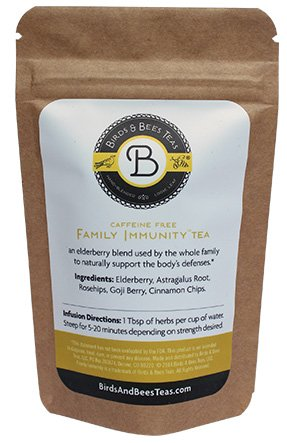 Birds & Bees Teas - Family Immunity - Sample Bag. Promotes Wellness and Stronger Immune System with Natural Herbs! A Delicious Tea Blend! - Great for Families and Mothers