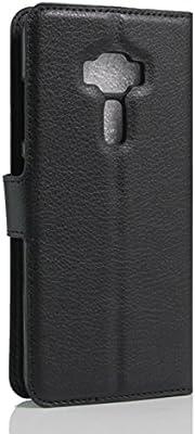 Amazon.com: ASUS Zenfone 3 Case, fettion Premium PU piel ...