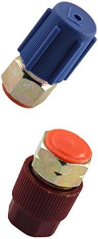 Homyl 2ピース/個高&低ACポートアダプターはR12ポートをR134aクイックディスコネクトに後付け