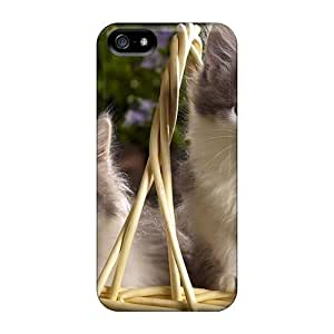 USMONON Phone cases Durable Basket Of Kittens Back Case/cover For Iphone Iphone 5 5s