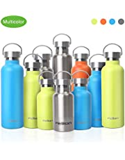 FEIJIAN Double Wall Vacuum Insulated 18/8 Stainless Steel Leak Proof Sports Water Bottle with Powder Coated for Gym Drinking Outdoor Sports Travel Bicycle Cycling Camping Golf Swimming Gift
