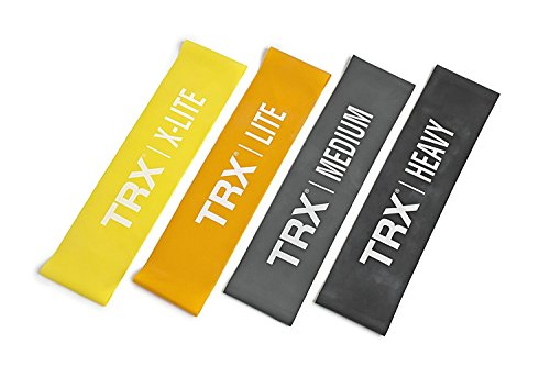 TRX Training - Set of 4 Mini Bands, Safely Increases the Intensity of Any Exercise