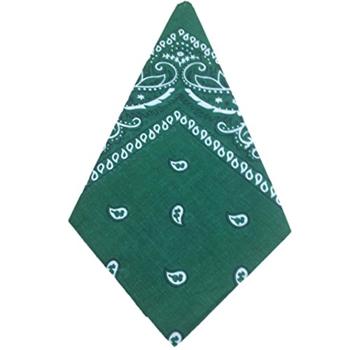 (Napoo Fashion Print Bandana Scarf Square Head Scarf Headwear (Green))