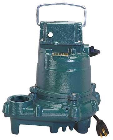 Zoeller Sump Pump, 3/10 HP, 1-1/2 NPT, 19ft Max, CI
