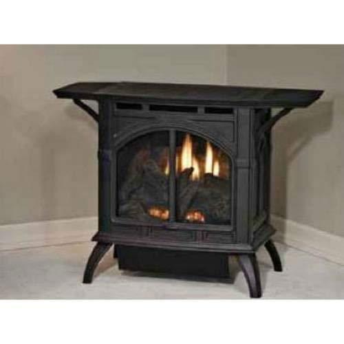 Heritage Cast Iron Vent-Free Porcelain Black Stove VFD10CC30BP - Liquid -