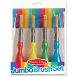 Melissa & Doug Jumbo Paint Brush Set (Arts & Crafts, Easy-to-Grip Handles, Ideal for Beginners, Handy Storage Pouch, Great Gift for Girls and Boys - Best for 2, 3, and 4 Year Olds)