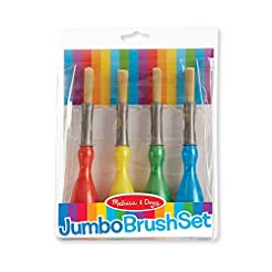 Melissa & Doug Jumbo Paint Brush Set (Ar...