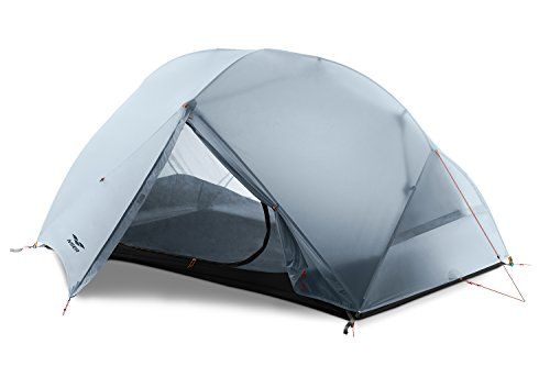 MIER 2-Person Camping Tent Easy Setup Lightweight Backpacking Tent with Footprint, 3 Season and 4 Season Dome Tent, Grey, 3 Season