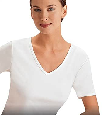 Cuddl Duds Women's ClimateSmart Short Sleeve V-Neck Warmwear Top