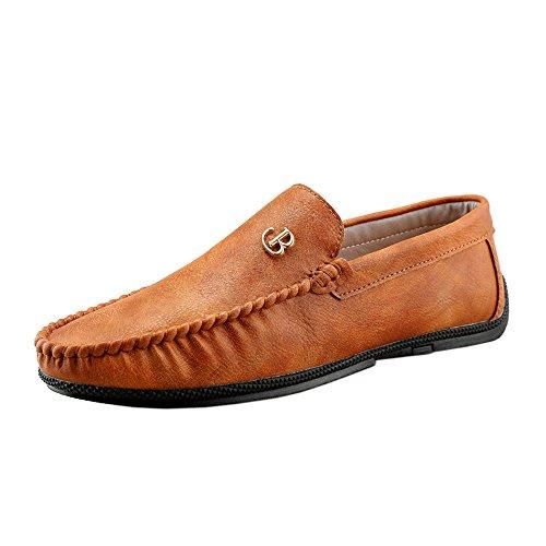 Hombres Mocasines Zanpa Sin 2 brown Cordones nq0qYfdw