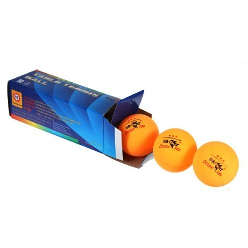 Romote New 3PCS Double Fish ITTF Genehmigt 3-Sterne Tischtennis Ping Pong Ball 40mm für Spiel