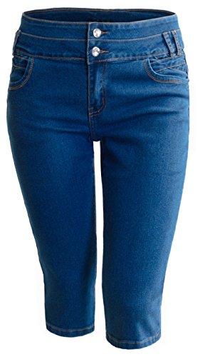 Blue Denim Capri Jeans - 6