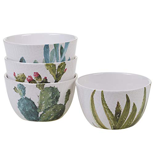 (Certified International 22155SET4 Cactus Verde Dinnerware, Tableware, Dishes, One Size, Multicolored )