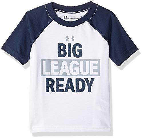 Under Armour Boys' Toddler Logo Raglan Tee Shirt, White-s19, 3T ()