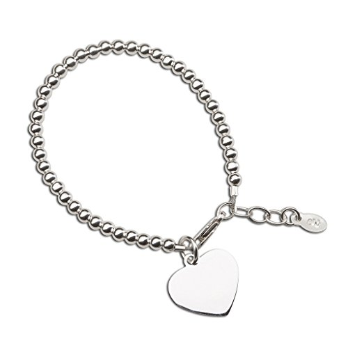 - Children's or Baby Sterling Silver Bracelet with Engravable Heart