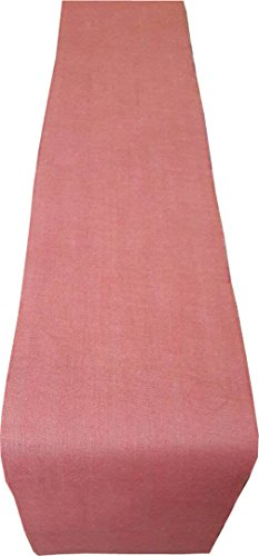 Mauve Elegance Round Tablecloth - KVR Eco environment friendlly Jute burlap table runner for wedding, party, dining and home decoration , (120 Inch Long (10 ft), Burlap -Red)