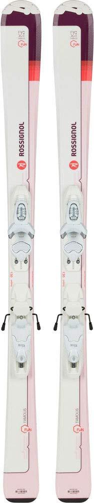 ROSSIGNOL(ロシニョール)キッズ ジュニア スキー板 ビンディングセット スキーセット 子供用 RAHJY04/FCFK003 ホワイト×ピンク