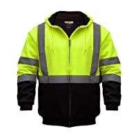 Utility Pro UHV425X-4XL UHV425 High-Vis Safety Soft Shell Hoodie with Waterproof Dupont Teflon, Lime, 4X-Large 4