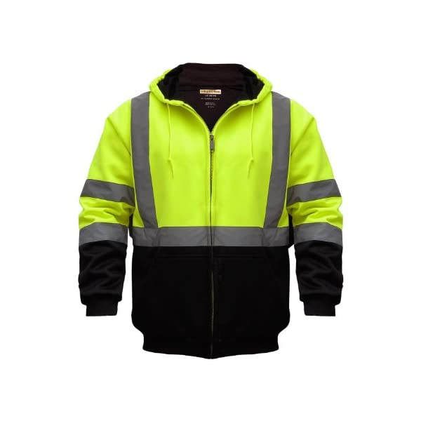 Utility Pro UHV425X-4XL UHV425 High-Vis Safety Soft Shell Hoodie with Waterproof Dupont Teflon, Lime, 4X-Large 1