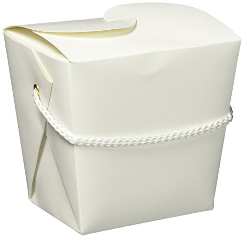 Chinese Takeout Box Costume (Amscan Party Friendly Plain Medium Take Out Style Favor Box, 4
