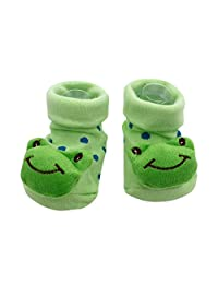 Nikuya Cartoon Newborn Baby Girls Boys Anti-Slip Socks Slipper Shoes Boots