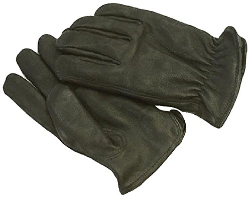 Napa Deerskin Driver Gloves with Thinsulate Lining (Black, X-Small) -