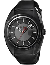 Quartz Stainless Steel and Rubber Casual Black Men's Watch(Model: YA137111)