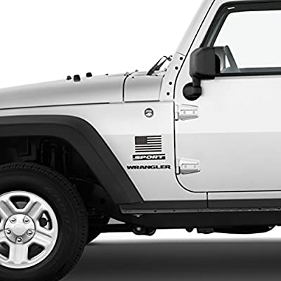 Chevy Car Vinyl Window Bumper Decal Sticker 1 Pair CREATRILL Die Cut Subdued Matte Black American Flag Sticker 3 X 5 Tactical Military Flag USA Decal Great for Jeep Ford Chengyuan Hard Hat