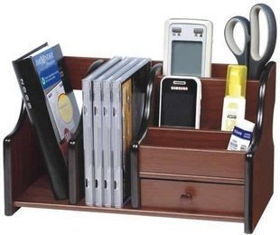 Gold Leaf Office Cube Big Pen Stand Office Stationery Wooden Mobile