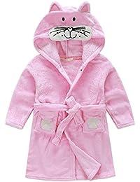 Little Girl's Unisexy Kids Coral Fleece Bathrobe Robe
