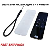 NEW Silicone Protective Case Cover Slip Pouch for Apple TV Siri Remote 4th Generation With Strap and Anti Dust Plug