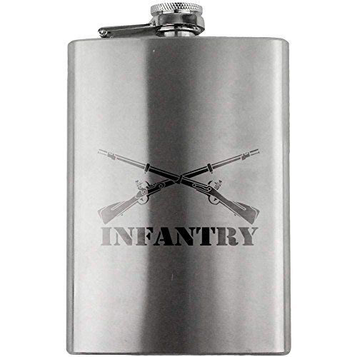 Army Infantry Branch Military Flask