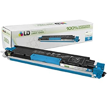 LD Remanufactured Toner Cartridge Replacement for HP 126A CE311A (Cyan)