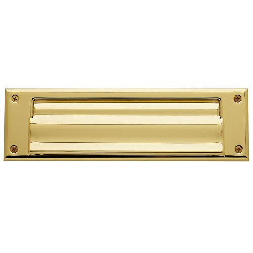 Baldwin Magazine - Baldwin 0017.003 Hinged Magazine Size Letter Box Plate, Lifetime Polished Brass
