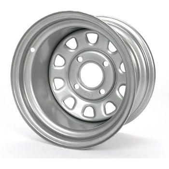 ITP Delta Steel Wheel Bolt Pattern: 4//156 Rim Offset: 4+3 Silver 4//156 Wheel Rim Size: 12x7 12x7-4+3 Offset Position: Front//Rear 1225579032 Color: Silver