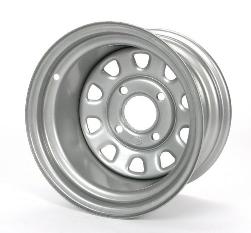 ITP Delta Steel Silver Wheel with Machined Finish (12x7''/4x110mm)