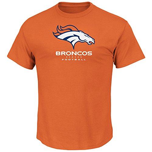 - Denver Broncos NFL Men's Critical Victory VIII Crew Neck T-Shirt Orange (Medium)