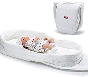 Baby Nest for Newborn and Babies, Baby Pod Cocoon Double Sided, Baby Bassinet for Bed/Lounger/Nest/Pod/Cot Bed/Sleeping, Breathable & Hypoallergenic Cotton/White Starry Sky