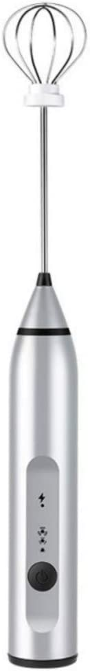 dfsa Batidora de Huevos Batidor de Huevo eléctrico de 3 velocidades Cabezas de batidora Batidora de Huevo Frother Stirrer USB Handheld Coffee Milk Drink Blender Tool