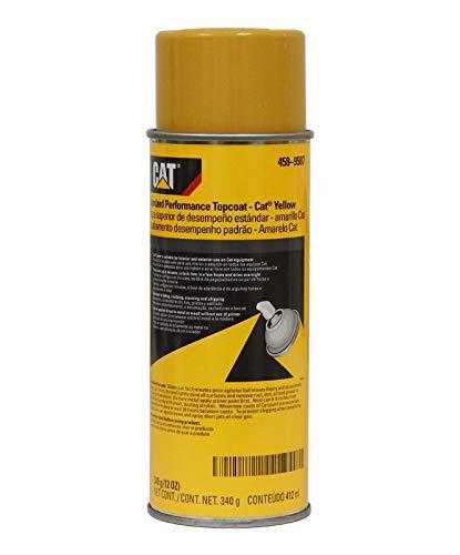 (Caterpillar 458-9587 Standard Performance CAT Yellow Topcoat Paint Aerosol 12oz. (CASE OF 12))