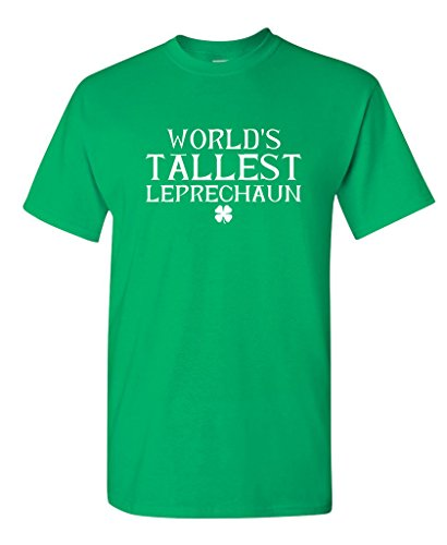 Feelin Good Tees World's Tallest Leprechaun Funny Irish ST Patricks Day T-Shirt 2XL Irish