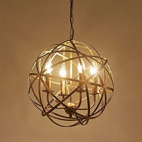 Jtivcs 4 luces de metal industrial retro cruz orbe candelabro vela ...