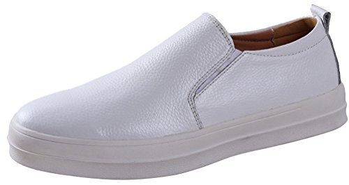 Salabobo QYY-16903 New Mens Casual Leather Charming Comfy Leisure Walking Shoes White UK Size7 XTHWGh