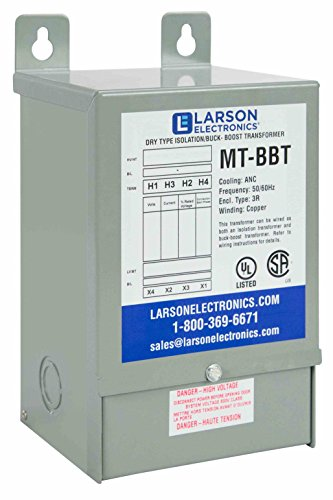1-Phase Buck/Boost Step-Down Transformer - 121V Primary - 110V Secondary -183 Amps -50/60Hz by Larson Electronics