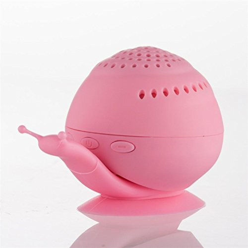 Coohole New Creative Snail Portable Wireless Bluetooth Outdoor Stereo Speaker & Mobile Stand (Pink)