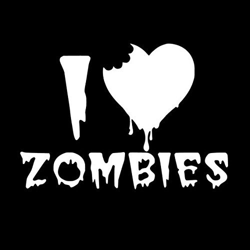 I Heart Zombies Vinyl Decal Sticker Wall Art Car Truck Window Wall Art (Nissan Windshield Sticker compare prices)