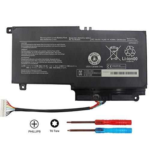 Domallk PA5107U-1BRS Laptop Battery for Toshiba Satellite L50 L50-A L55 L55t P50 P50-A P50-b P55t-a P55t-A5116 S55-A5295 S55t-A5202 S55t-A5337 S55t-A5389 P55-A5200 L55-A5284-12 Month Warranty (Toshiba Satellite P55t)