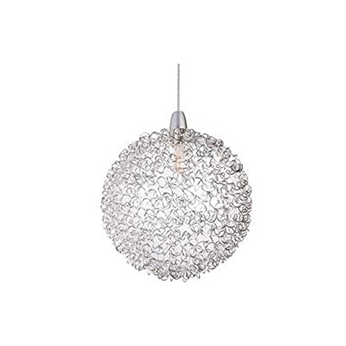 ET2 EP96080-78 Starburst 1-Light RapidJack Pendant RapidJack Pendant, Mesh Glass, 12V G4 Xenon Bulb, 2.5W Max., Dry Safety Rated, 2700K Color Temp., Standard Triac/Lutron or Leviton Dimmable, Shade Material, 5100 Rated Lumens